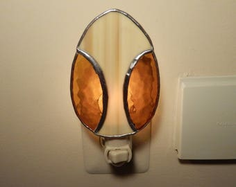 Easter Egg Stained Glass Night Light- (Amber or Gold)