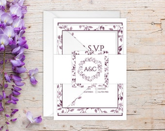 Wedding Invitations - DEPOSIT TO START Shades of Purple Suite - Custom Wedding Invites - Personalized Wedding Invitations - Wedding Suites