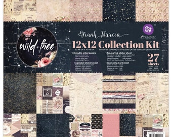 Prima Wild & Free Collection Kit 12 x 12  Scrapbook New Release In Stock Ready To Ship