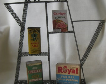 Vintage Atomic Mid Century Coffee Pot Shelf