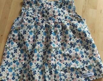 2T FabulousLiberty style Blue Floral Dress