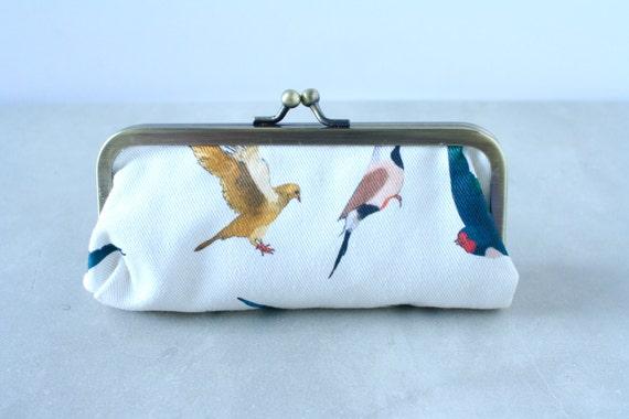 Kiss lock Bird Print Coin Purse Bird Change Purse Bird Lovers Bird art Bird illustration Coin purse
