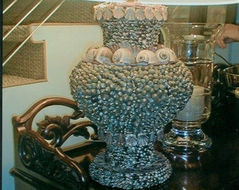 Sea Shell Encrusted Lamp Base