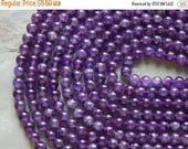 Sale 8mm B Grade Genuine Natural Amethyst Semi-Precious Polished Gemstone Beads, Half Strand (N2-IND1C45)
