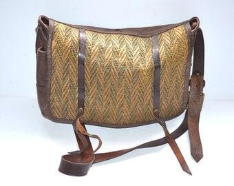 90s vintage Hobo Leather Shoulder-Bag  JAS-M-B-LONDON crossbody bag hand made in England satchel purse