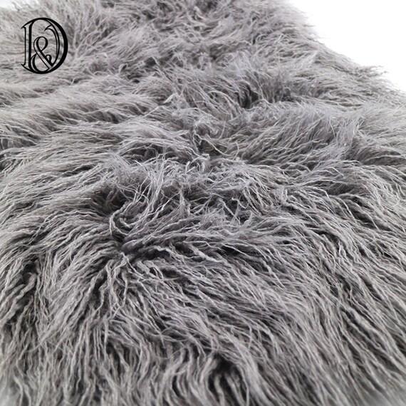 75 50cm kunstfell mongolischen pelz decke korb stuffer. Black Bedroom Furniture Sets. Home Design Ideas