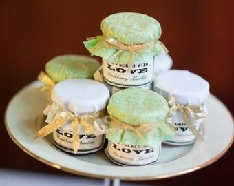 SALE 15% off ends Sunday 140 2oz Mini Mason Jar Favors - Labels & Dippers Separate