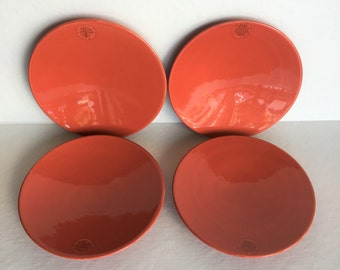 Set of 4 Deep Salmon Plates