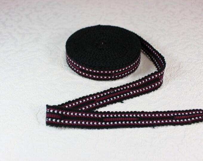 Woven Trim (6 yards), Woven Border, Cotton Ribbon, Grosgrain Ribbon, Dress Border, Border Trim, R143