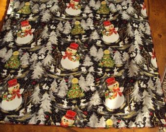 Snowmen Christmas napkins generous size napkins