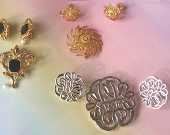 LOT - 3 AVON Jewelry Sets - Pin and Earrings