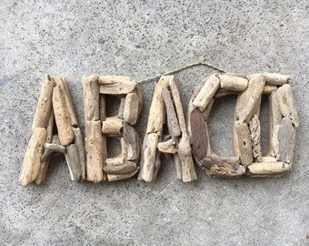 Beach Décor Driftwood AVACO signs by SEASTYLE