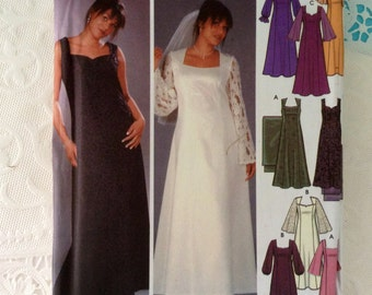 Wedding Dress Pattern - Simplicity 5275 - sizes 26W- 32W - Design Your Own - Evening dress and Shawl -  uncut with factory folds