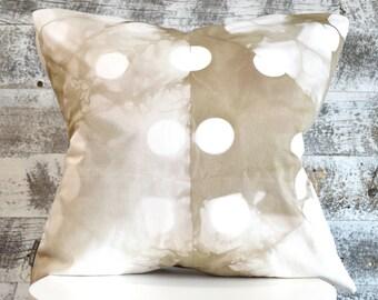 Contemporary Shibori Pillow Cover 18x18 inches - Wild Mushroom