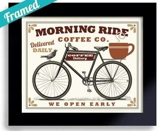 Coffee Gift Bike Art Unique Gift for Man Coffee Art Kitchen Decor Bicycle Art Print Coffee Mug Bike Rider Coffee Sign Coffee Cup