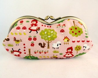 Cute Glasses Case - Soft Eyeglass Case - Eye Glass Case - Sunglasses Case - Sunglass Case - Glasses Case Kiss Lock