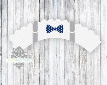 Little Man Suspenders - Cupcake Wrappers