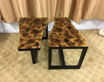 Mid Century Modern Kittenger end tables, nightstands, table set (2)