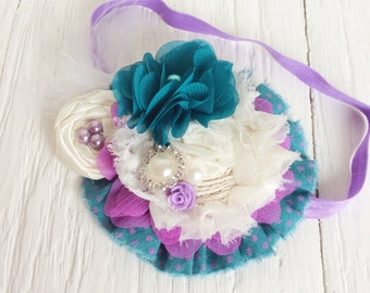 Teal ivory lavender headband baby headband toddler headband matilda jane m2m whimsical headband persnickety m2m headband