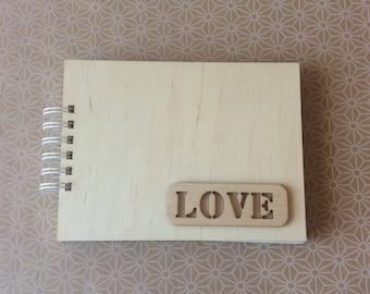 Wooden cover album / scrapbooking album / love album / photo album / blank album for diy /