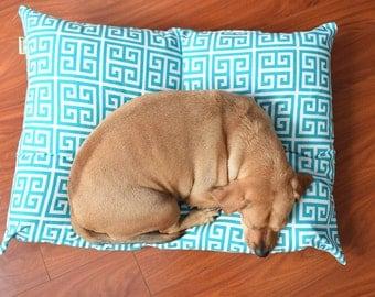 Designer Dog Bed-Blue Dog Bed-Floor Pillow-Dog Bed-Dog Bed Pillow-Small Dog Bed-Dog Bed Cover-Reversible Pillow-Large Dog Bed-Medium Dog