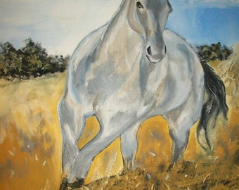Original ACEO Horse reproduction#9 art card -: rdoward fine art