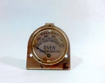 1930s, Oven Thermometer, Oven, Thermometer, Antique Thermometer, Vintage Thermometer, Bakewell, Kitchen Gadgets, Kitchen Art, Steampunk