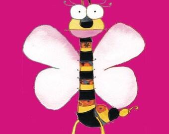 Butterfly - Bumblebee - Kids Butterfly - Print