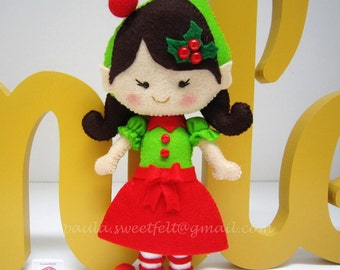 Cute little Elfe girl for Christmas décoration / X'mas tree ornament / Elfes