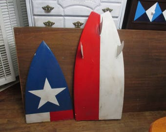 Surf board broke in half good board, nice graphics great for your surf table or chair beach decor
