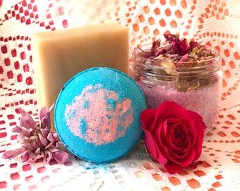 Gift Set Rose, Rose, Rose Spa Set, Rose Bath Set, Spa Gift Set, Bath Gift Set, Natural Spa Set, Bridal Shower Gift, Organic Spa Set, Gift