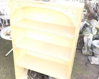 Shelf Vintage Chippy  sunny yellow  shabby chic cupboard shelf shabby chic cottage chic