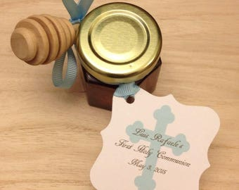 40 qty First Holy Communion Favors with Personalized Tags and Dipper