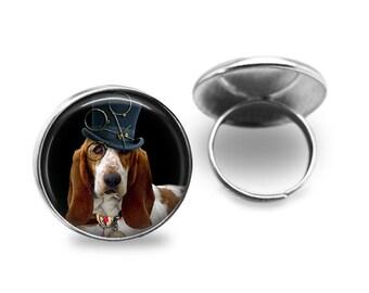 Basset Hound Dog Statement Ring