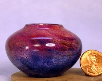 Dyed Cottonwood Turned Miniature Pot