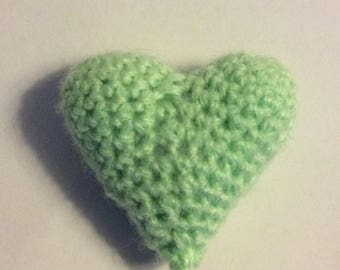Baby Green Heart toy. crinkly or rattle, cat nip