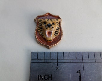 1:12th Dolls House Tiger Head Wall Plaque
