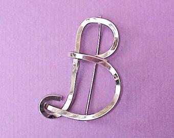 "Big Beautiful Letter ""B"" Vintage Brooch"