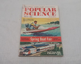 Popular Science March 1956 - Great Condition - Fascinating Articles and Hundreds of Vintage Advertisements