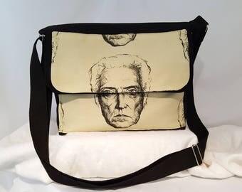 Christopher Walken, Messenger Bag, Cross Body Bag, Man Bag, Movie Icon Bag, Canvas Bag, Kitschy, Cool, Funny, More Cowbell