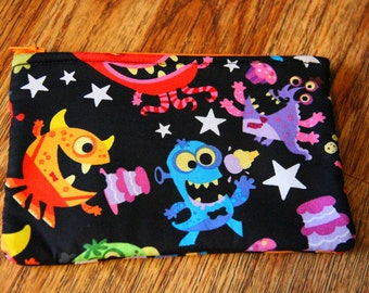 Space Monster Pouch Purse