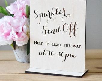 Sparkler send off sign-wedding sign- freestanding sign