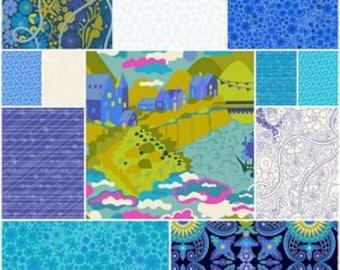PRESALE - Diving Board - Fat Quarter Bundle in Cool - Alison Glass for Andover - AGDB-FQC - 12 prints