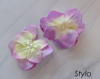 Lilac Flower Pair Hair Clips