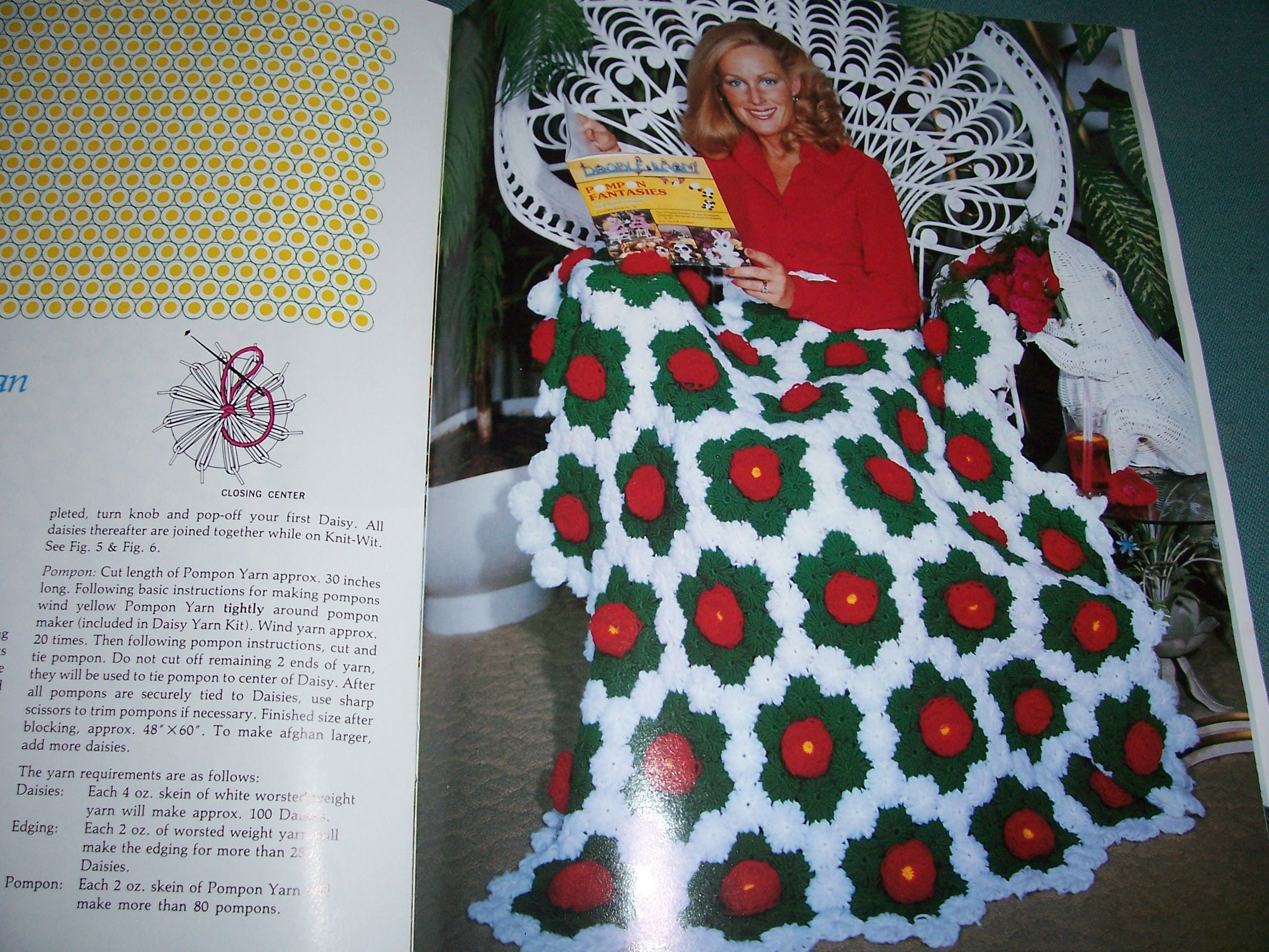 Vintage knit wit knitting tools afghan crochet patterns daisy 800 shipping bankloansurffo Images