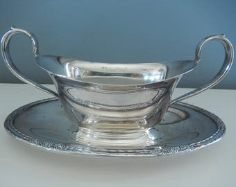 """Oval Silverplate Sauce Dish - Vintage Silverplate - """"Camille"""" 6013 Silverplate - Formal Dining - Vintage Silverplate - Wedding Silver"""