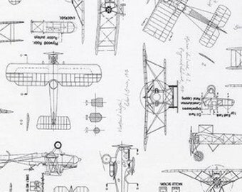 Crib Sheet Vintage Planes Blueprints Fitted Crib Toddler Sheet Changing Pad Cover Baby Boy Organic Airplane Travel Aviation