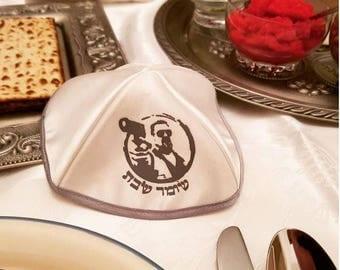 5 pcs big lebowski yamaka kippa's - walter - shomer shabbos in hebrew - AWESOME