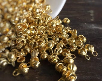 NEW LOWER PRICE - Bangalore Authentic Gold Clapperless Indian Jingle Bells (100) - Bellydancer Chic