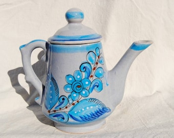 Mexican style pottery teapot